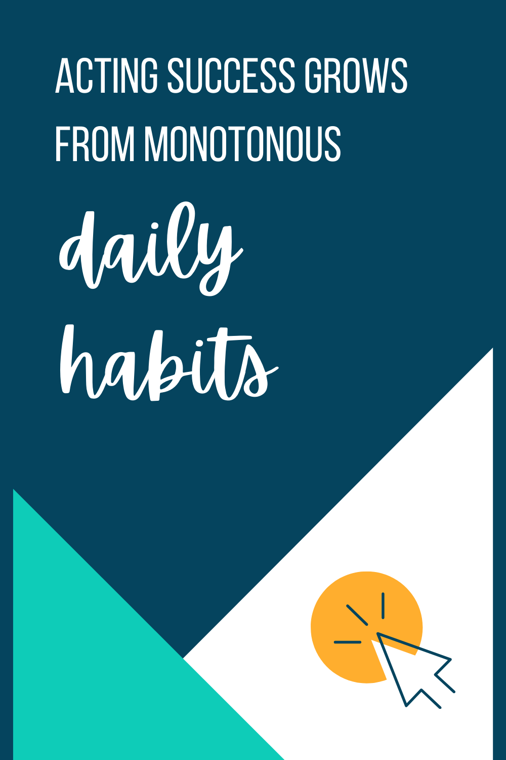 Daily habits for actors