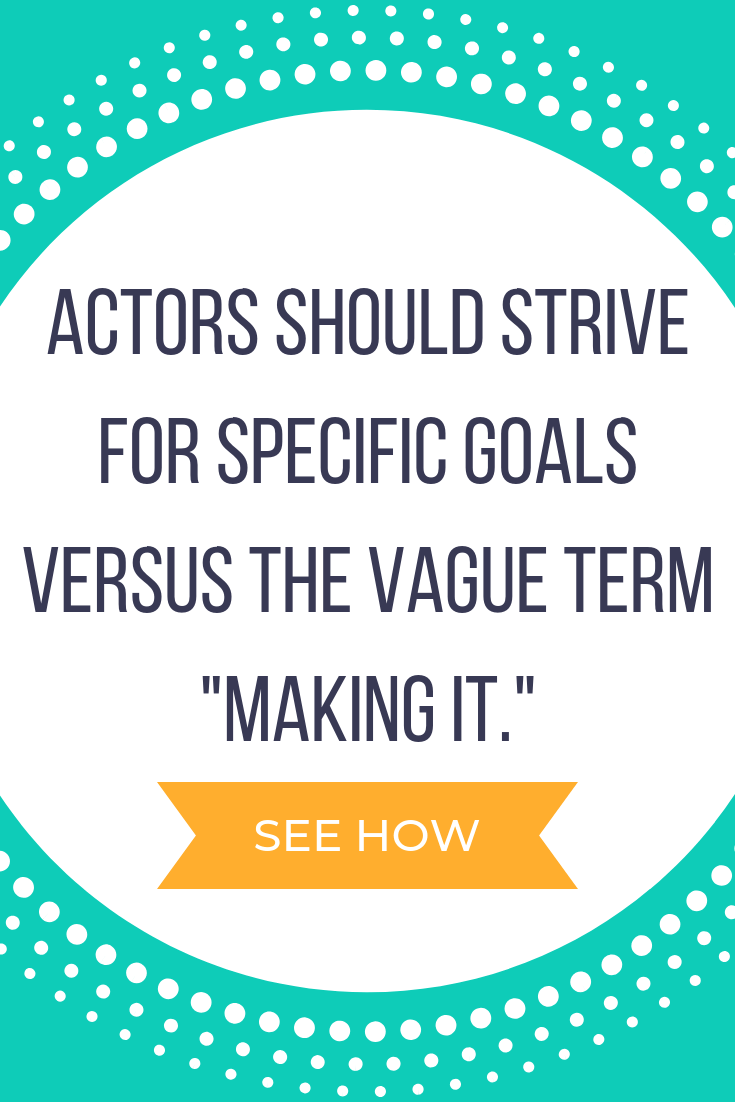 How to Set Acting Goals
